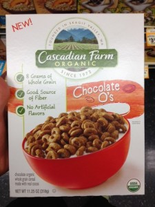 Cascadian Farm Chocolate O's. Nutrient Claim.