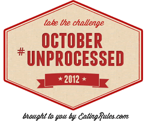 Take the challenge: October Unprocessed 2012