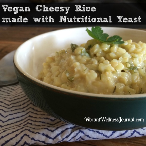 vegan cheesy rice