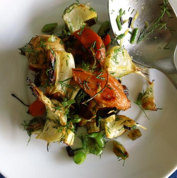 springtime roasted veggies