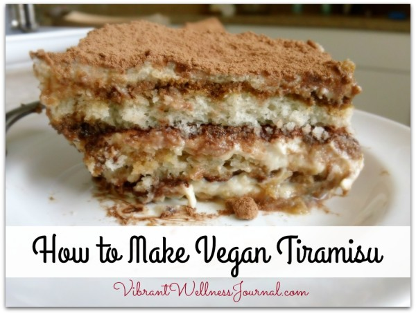 how to make vegan tiramisu