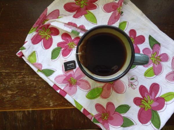 mug of pu-erh tea