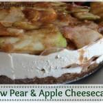 raw caramel apple cheesecake