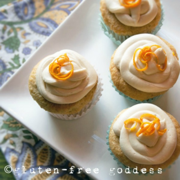 Orange Creme Cupcakes from gluten-free goddess