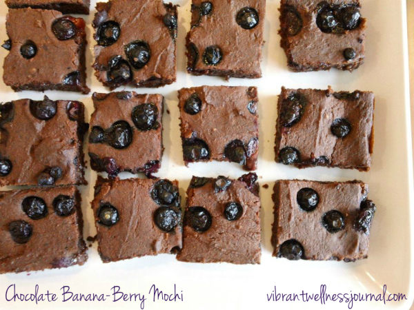 Vegan Chocolate Banana Berry Mochi Recipe