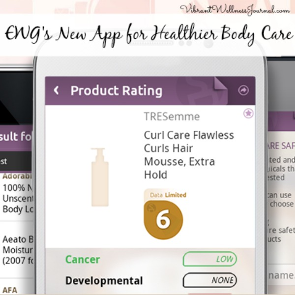 EWG new app healthier body care
