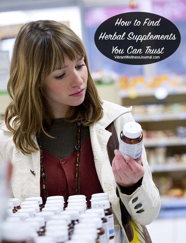 Finding Trustworthy Herbal Supplements