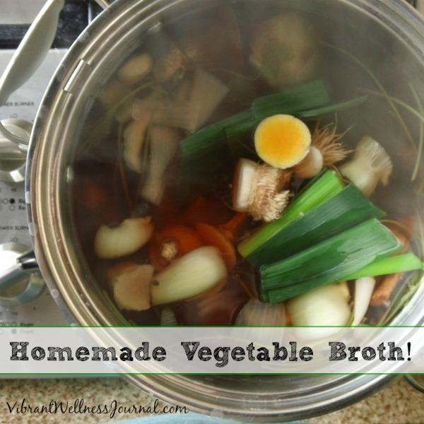 homemade vegetable broth 2