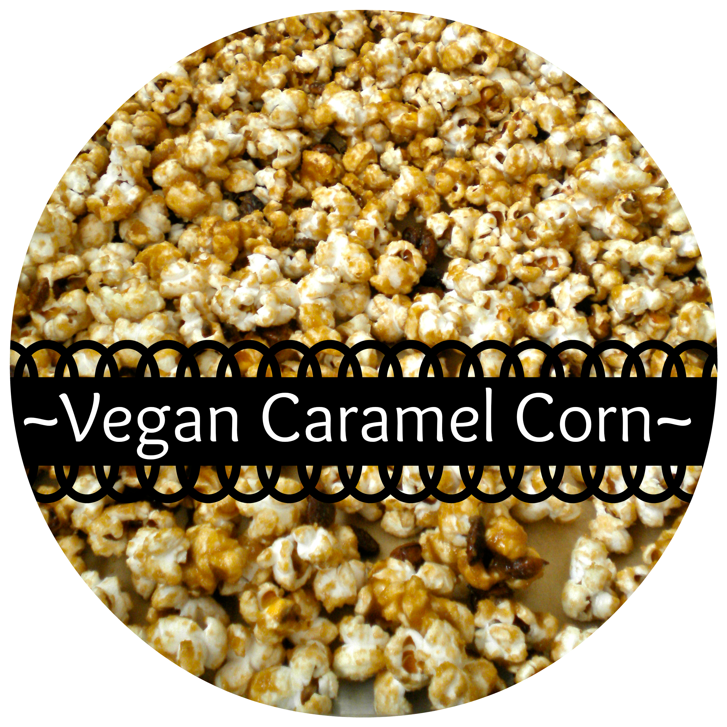 homemade vegan caramel corn