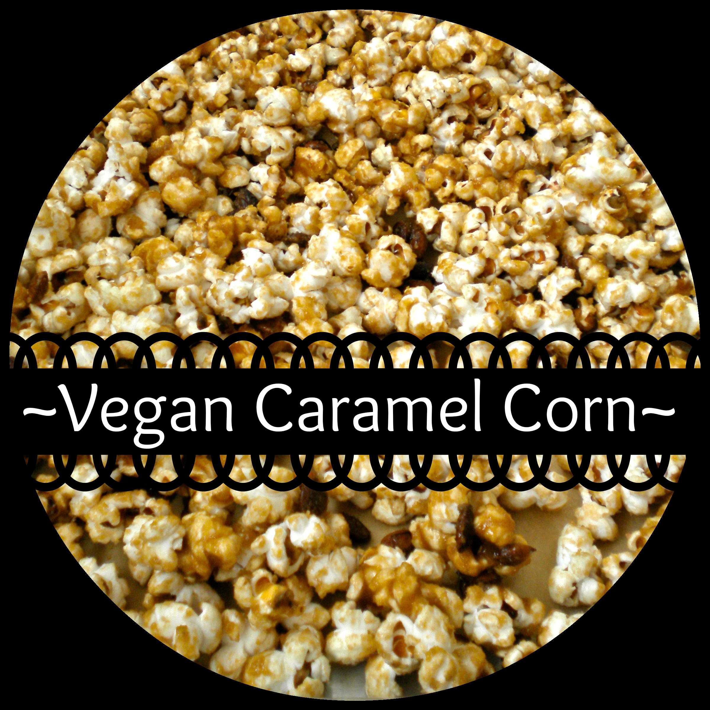 homemade vegan caramel corn