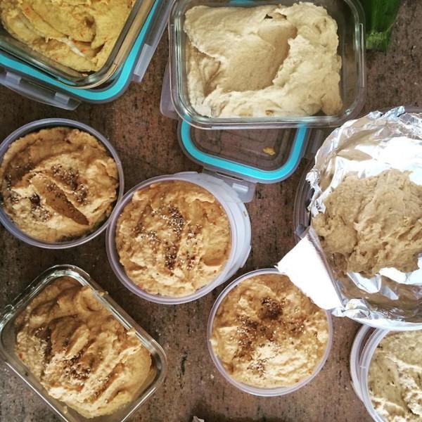 make hummus in bulk