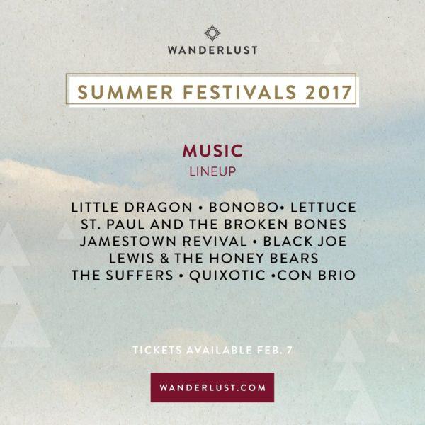 Wanderlust Summer Festivals