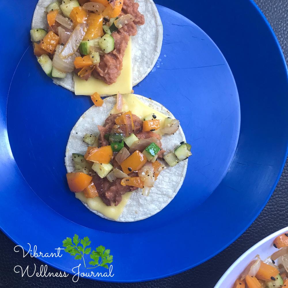 vegan tacos vegan camper van food