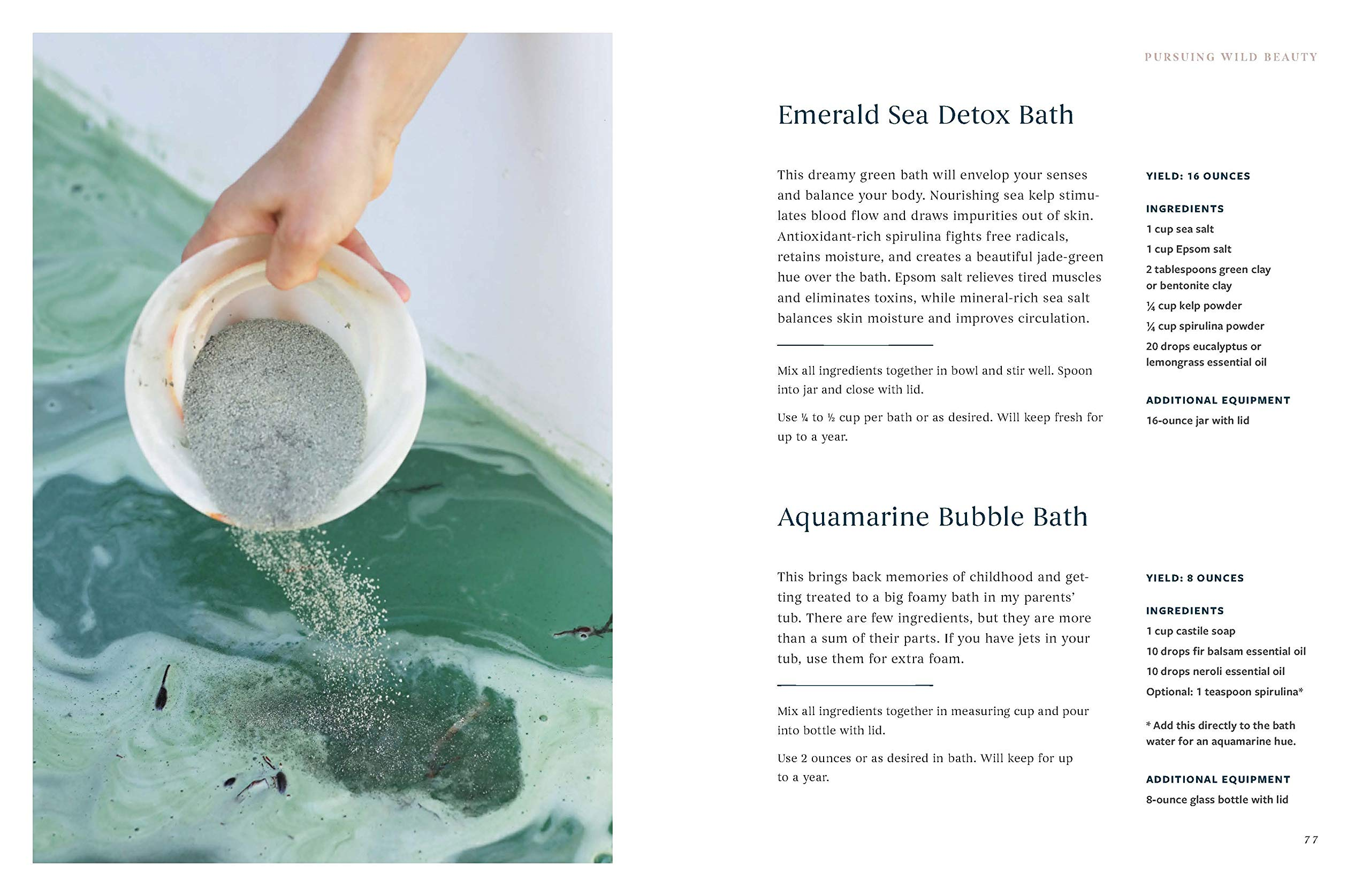 Wild Beauty detox bath
