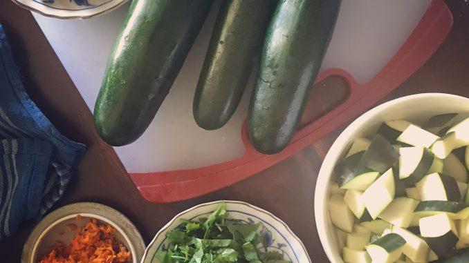 ginger zucchini stir-fry