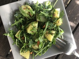 bright green potato salad